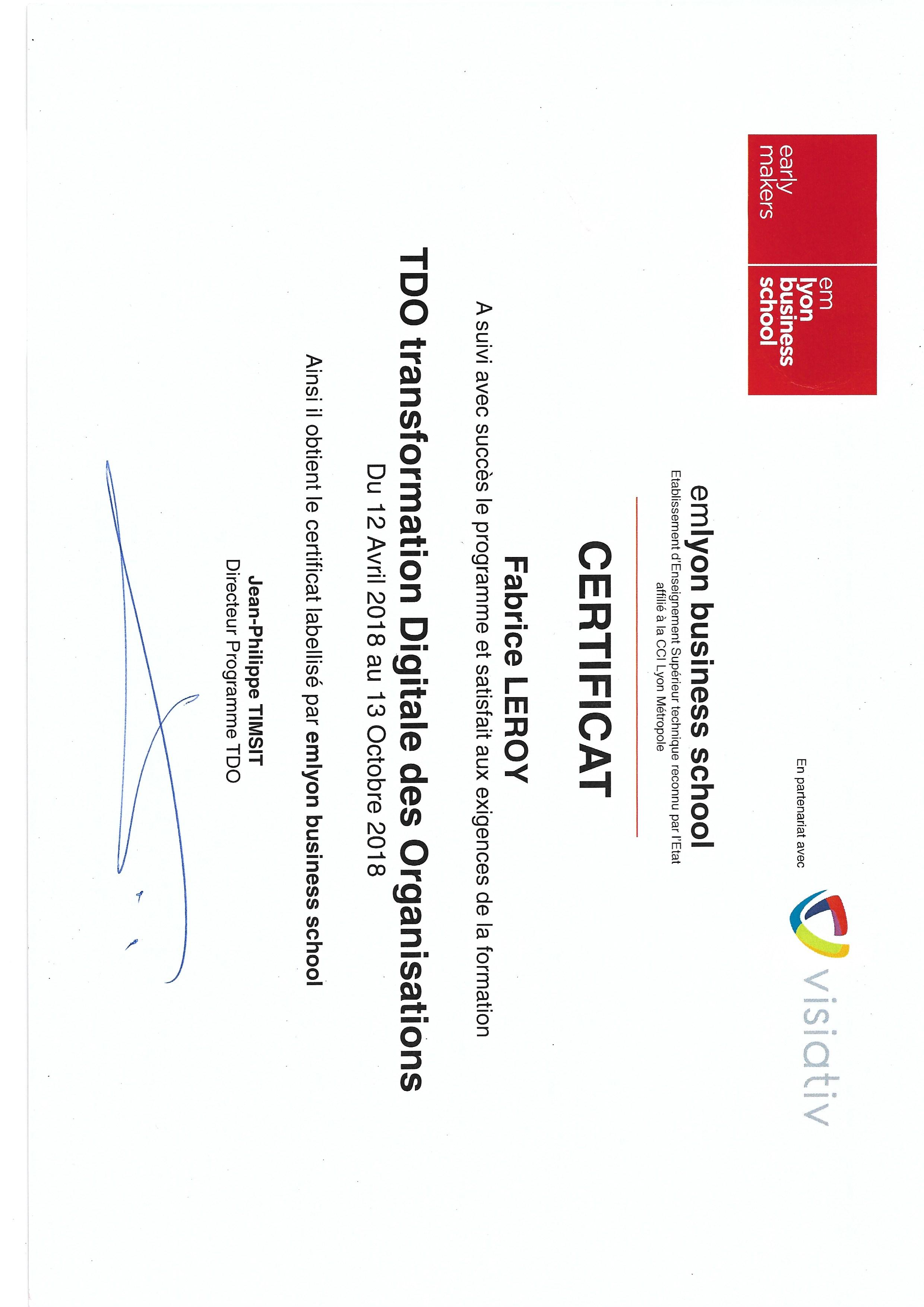 Diplôme & Certificats